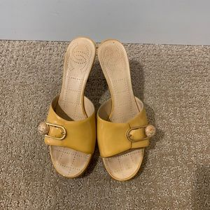 CHANEL shoes Heels loafers yellow heels